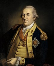 An oil painting of Continental Army General Friedrich Wilhelm von Steuben.