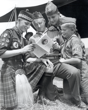 Scouts with VF handbook