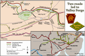 Train Map to Valley Forge