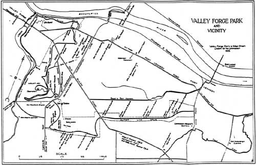 1908 map of Valley Forge