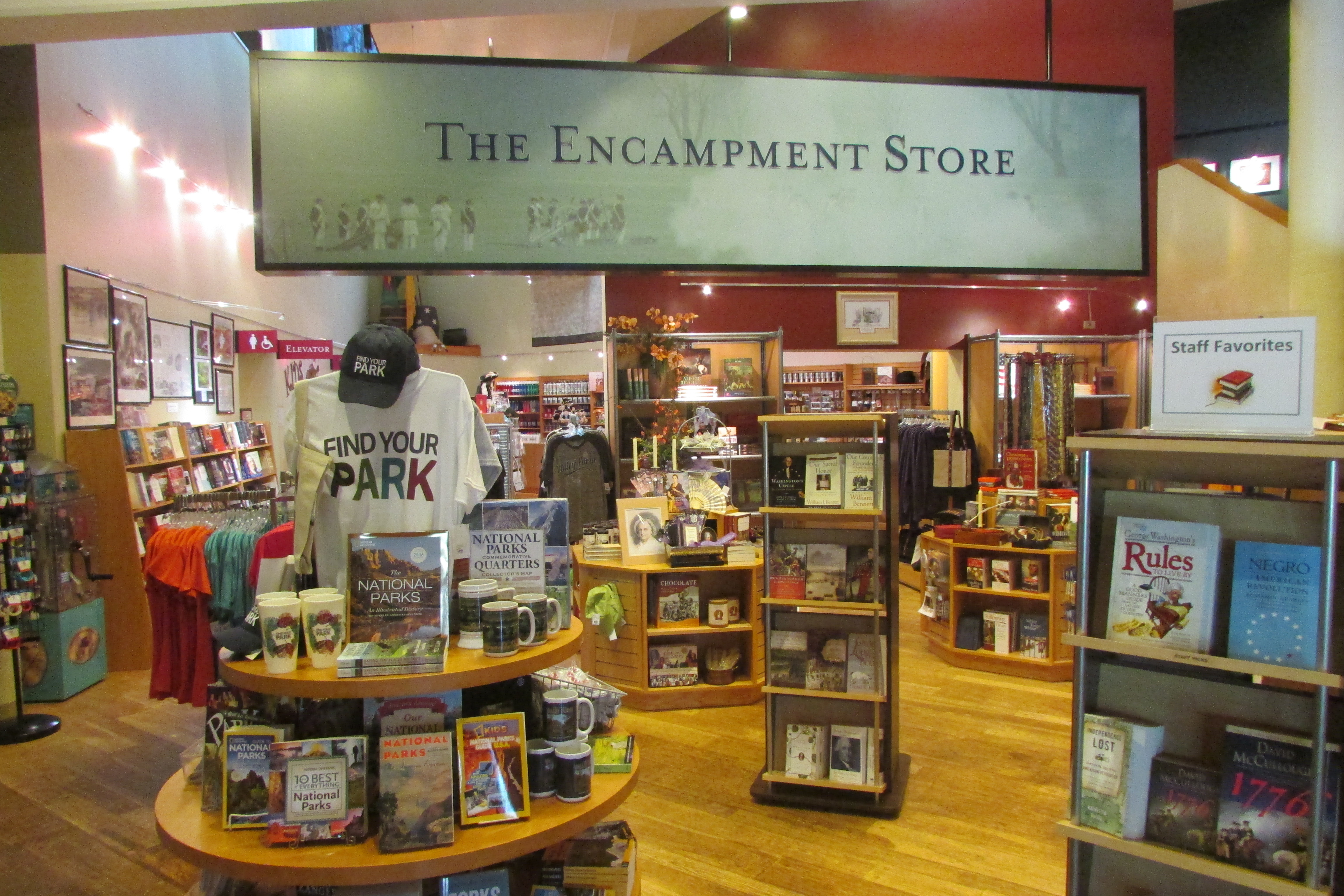 The Encampment Store Valley Forge National Historical Park US - Us national park quarters book