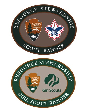 Girl Scout Ranger and Boy Scout Ranger badges