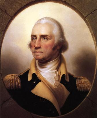 Portrait of General Washington in his military uniform