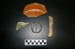 Archaeology findings from Washington's Headquarters