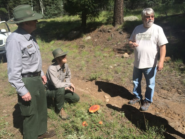 Valles Caldera employees in the field