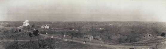 Old Jackson Road showing Illinois Monument and Shirley House, ca. 1910
