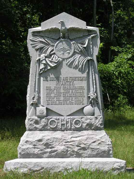 114th Ohio Infantry Monument