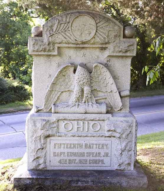 15th Ohio Battery Light Artillery Regimental Monument