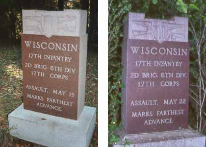 17th Wisconsin Infantry Assault Markers