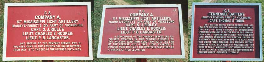 1st Mississippi Light Artillery, Company A Tablets