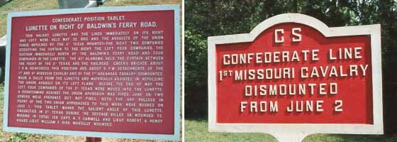 1st Missouri Cavalry [Dismounted] Tablet and Marker