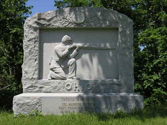 20th Ohio Infantry Regimental Monument