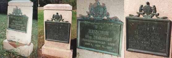 26th Missouri Infantry Unit Position Markers
