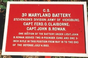 3rd Maryland Artillery Tablet