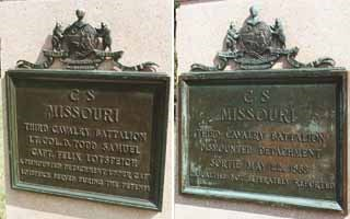 3rd Missouri Cavalry [Dismounted] Regimental Monuments