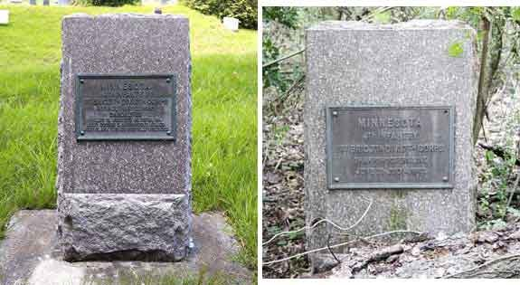 4th Minnesota Infantry Markers - Assault, May 22, 1863; Sharpshooters Line