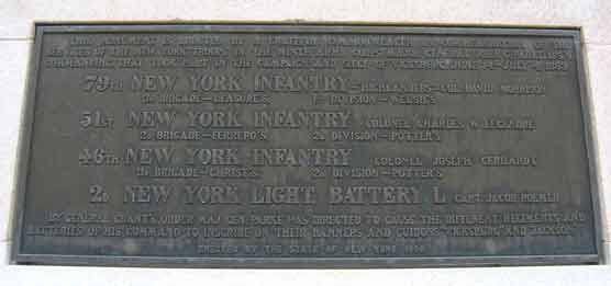 New York State Memorial Plaque