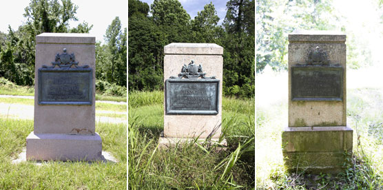 6th Missouri Infantry Markers: Assault, May 19, 1863; Assault, May 22, 1863; Sharpshooters' Line