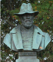 Bust of Confederate Brigadier General Isham W. Garrott