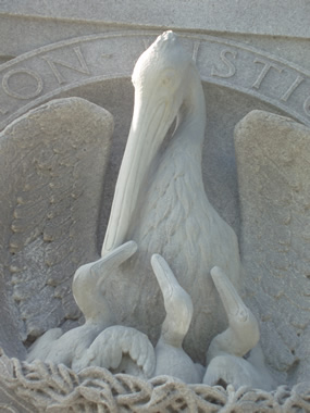 Closeup of Louisiana Memorial