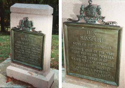 35th Missouri Infantry, Company I Unit Position Markers