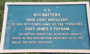 8th Ohio Light Artillery tablet