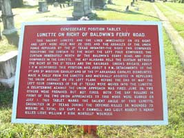 Confederate Position Tablet in the Jewish Cemetery