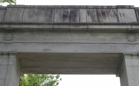 Dedication Inscription on the Back of the Memorial Arch