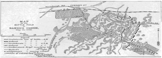 Map of Bakers Creek at Champion Hill