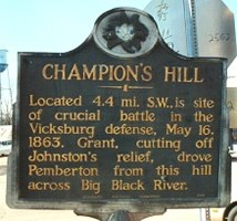 Champion Hill Historical Marker