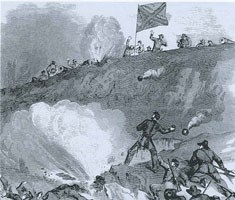 Fighting in the Crater at the Third Louisiana Redan
