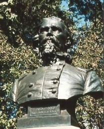 Brig. Gen. Elias S. Dennis, bronze bust close-up