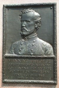Col. Manning F. Force, bronze relief portrait
