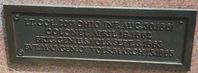 Bronze plaque on base of Col. Manning Force marker