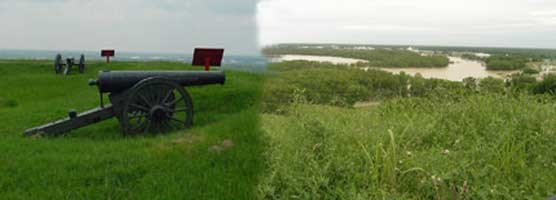 Fort Hill Guns - Looking Toward the Old Bend in the River