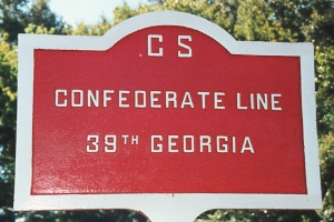 39th Georgia Infantry Marker