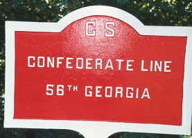 56th Georgia Infantry Marker