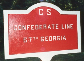 57th Georgia Infantry Marker