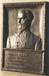 Col. Simon G. Griffin, bronze relief portrait