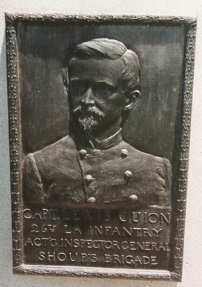 Capt. Louis Guion, bronze relief portrait
