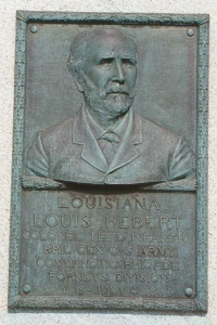 Col. Louis Hebert, bronze relief portrait