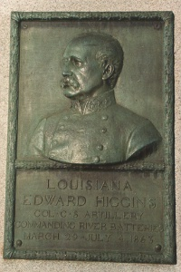 Col. Edward Higgins, bronze relief portrait