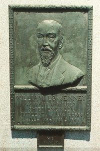 Capt. William L. B. Jenney, bronze relief portrait