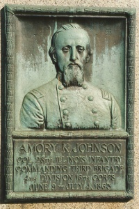 Col. Amory K. Johnson, bronze relief portrait