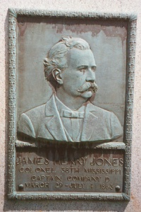 Col. James Henry Jones, bronze relief portrait