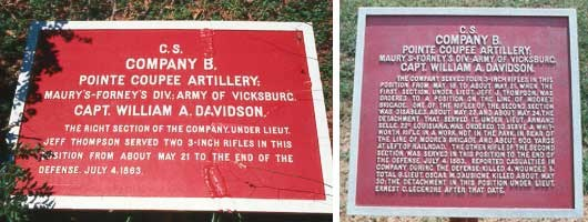 Point Coupee Artillery, Co. B Tablets