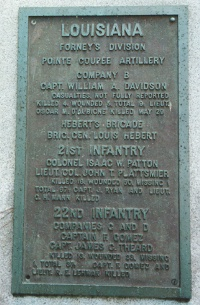 22d Louisiana Infantry, Companies C, D [Detachment] Regimental Monument