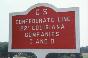 22d Louisiana Infantry, Companies C, D [Detachment] Marker