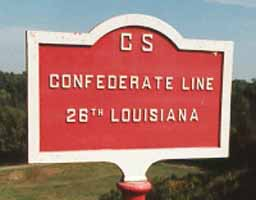 26th Louisiana Infantry Marker