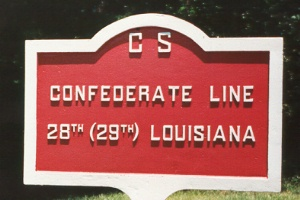 28th/29th Louisiana Infantry Marker